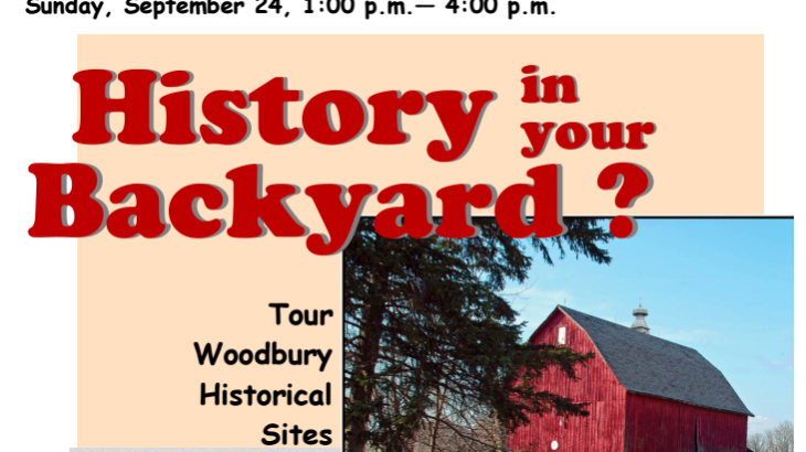 History In Your Backyard? A Woodbury Heritage Society Event