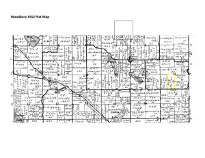 Woodbury Plat Map - 1912
